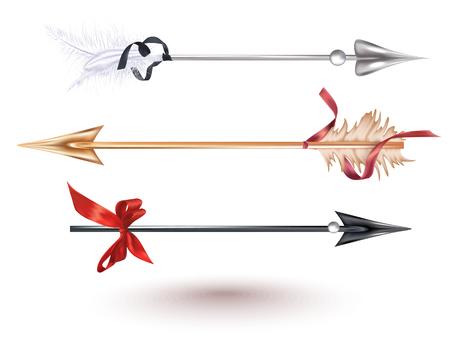 Set of beautiful arrows. Vector illustration