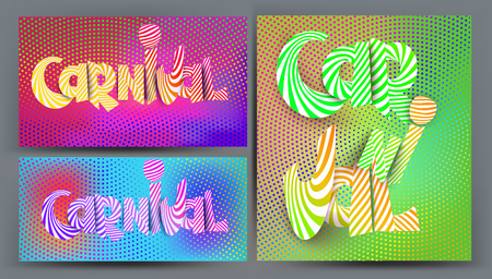 Halftone effect background and holographic colors. Vector illustration