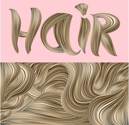 Banners with the blond hair. Vector illustration Ilustração