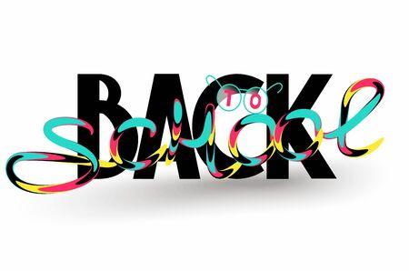 Back to school lettering Stok Fotoğraf - 129992589