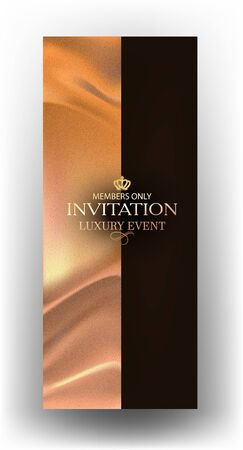Elegant Luxury invitation card with fabric on the background. Vector illustration