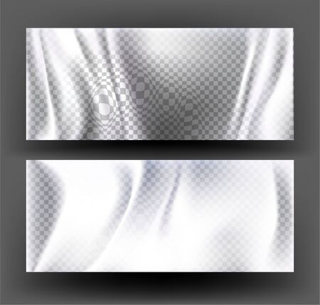 Transparent overlay shadows. Folds effect. Vector illustration
