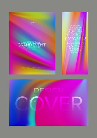 Bright abstract colorful galagramic banners. Vector illustration Ilustração