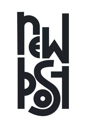New post lettering. Modern simple font. Vector illustration