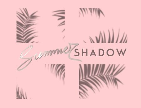 Palm tree shadows. Vector illustration