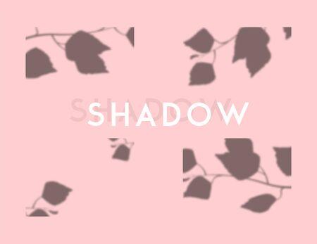 Tree branches shadows. Vector illustration