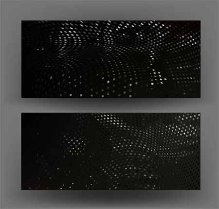 Banners with warped pattern on the background. Vector illustration Illusztráció