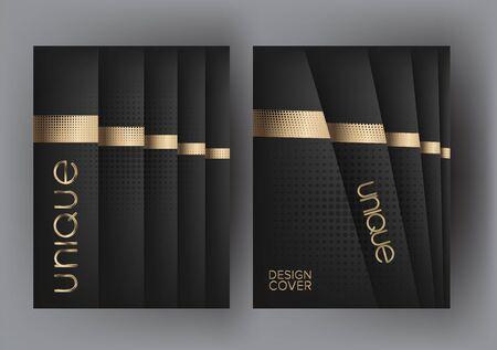 Elegant backgrounds with halftone effect elments. Vector illustration