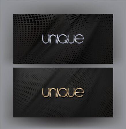 Elegant business cards with halftone effect. Vector illustration Illusztráció