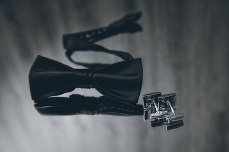 cufflinks: Wedding accessories for groom bow tie and cufflinks