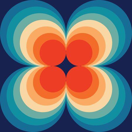 Modèle sans couture rétro abstrait, motif de répétition de fond géométrique Vecteurs