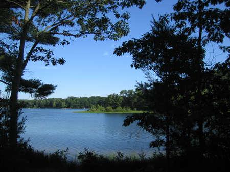 placid water: Duck Lake State Park summer landscape 1