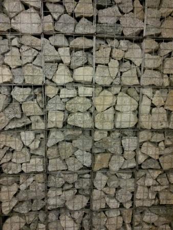 wire: Gray rocks in wire frames