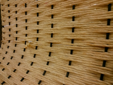 woven: Woven wood lounge chair Stock Photo