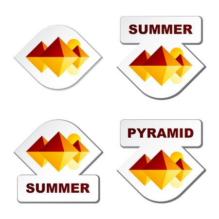 pyramide egypte: vecteur �t� egypte pyramide autocollants Illustration