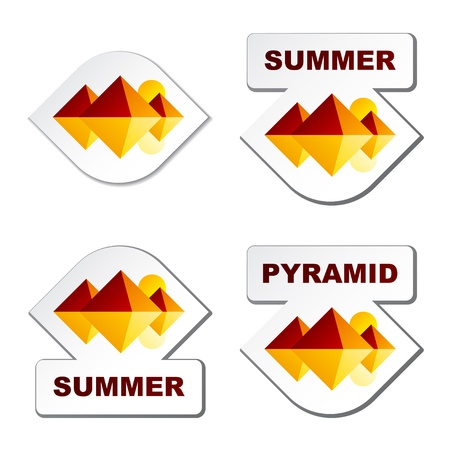 egypt pyramid: vector summer egypt pyramid stickers Illustration