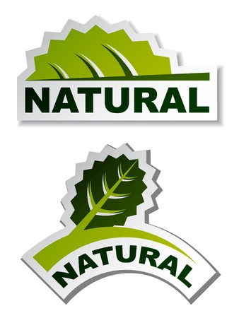 sprout growth: vector natural leaf stickers