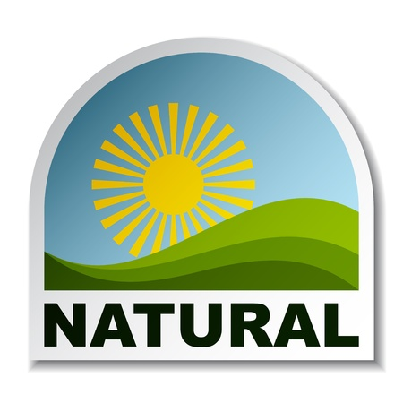 vector natural landscape sticker Vector