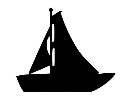Sailboat silhouette Stock Vector - 11446585