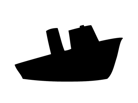 Steamship silhouette Stock Vector - 11446571