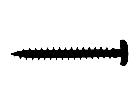 Wood screw silhouette Vector