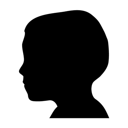 head silhouette: Boy head silhouette