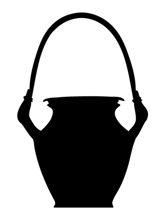 clay pot: Clay pot silhouette