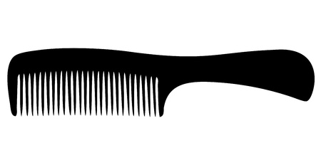hair brush: Comb silhouette