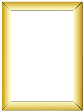 Simple gold frame Vector