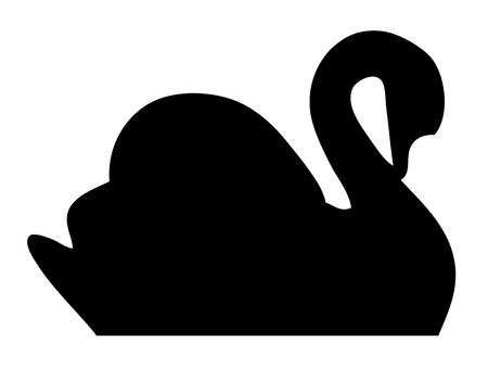 swans: Swan silhouette Illustration