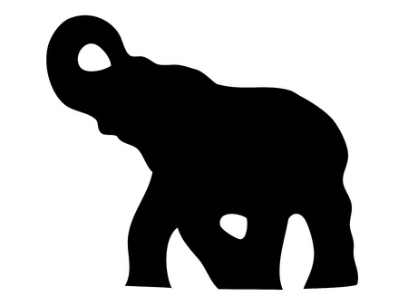 silhouettes elephants: Elefante silueta