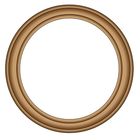 wooden circle: Simple wood frame Illustration