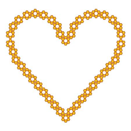 corazones: gold heart Illustration