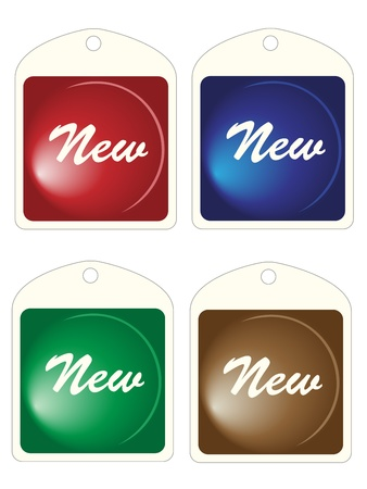 Set of square labels Vector