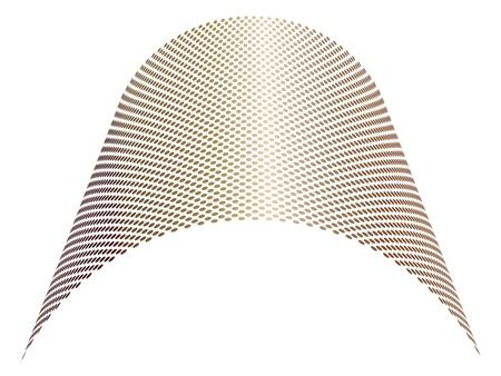 radiate: metal design element Illustration