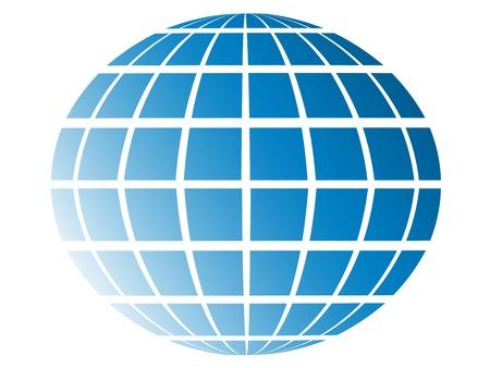 globe grid: blue globe