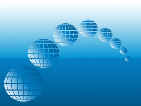 globes and sea Vector