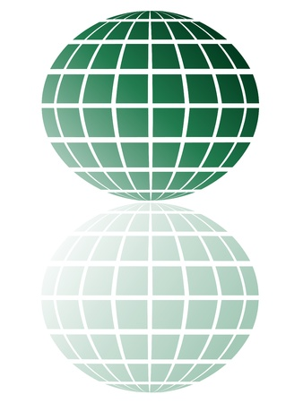 wereldbol groen: groene bol Stock Illustratie