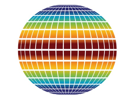 rainbow globe Stock Vector - 11468952