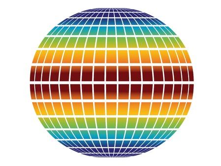 rainbow globe Stock Vector - 11468952