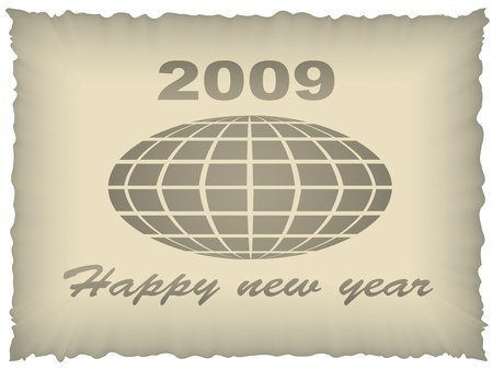 old paper new year 2009 Vector