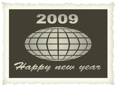 old photo new year 2009 Vector