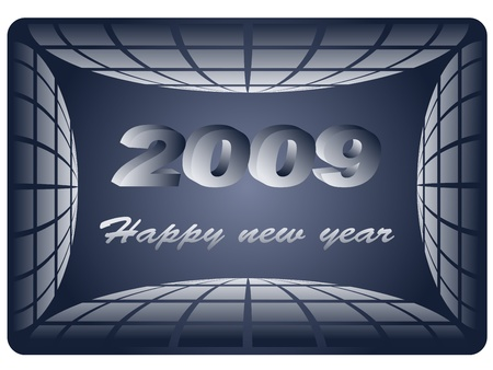 business card - new year 2009 Stock Vector - 11468957
