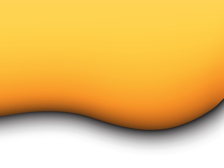 smooth curve design: yellow liquid background Illustration