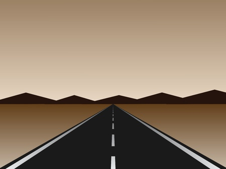 long road: empty road