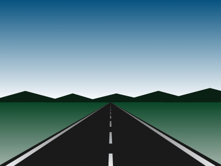 empty road Vector
