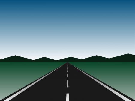 nowhere: empty road