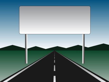 empty road - empty billboard Banco de Imagens - 11468245