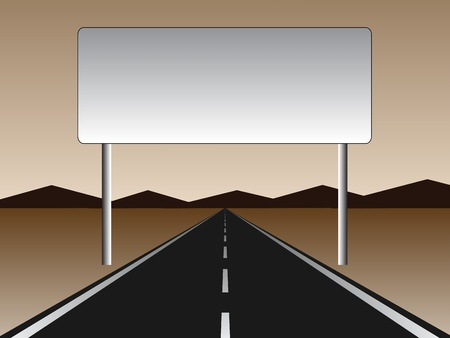 empty road - empty billboard Banco de Imagens - 11468179