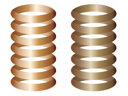metal spring: metal springs Illustration